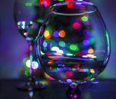 Christmas tree through glass — Foto de Stock