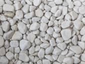 在海滩上的白色鹅卵石 — 图库照片