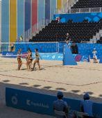 BAKU,AZERBAIJAN-THE FIRST EUROPEAN GAMES-JUNE 20,2015-BEACH VOLL — Stock Photo