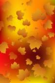 Autumn leaf fall.Vector — Stock Vector