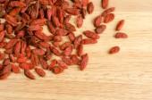 Goji berry dried, closeup background — Stock Photo