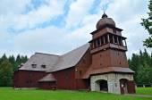 Wooden articular church — Stock Photo