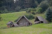 Medieval settlement in Slovakia — Stock Photo