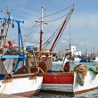 Colorful boats in the port — Stock Photo #65355599