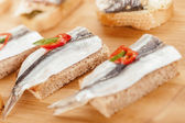 Sandwiches with fish — Stock Photo
