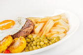Bacon with fried egg — Stock Photo