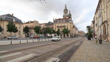 Modern tramvay nancy, fransa — Stok video