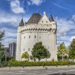 Halle Gate - medieval fortified city gate in Brussels — Stock Photo #53163651