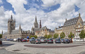 Panorama of Grote Markt square in Ypres — Stock Photo