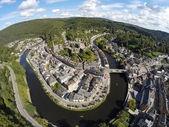 Aerial view on belgian city La Roche-en-Ardenne — Stockfoto