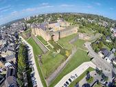 Aerial view on Castle of Sedan — Stock fotografie