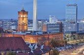Ayuntamiento rojo en berlín, alemania — Foto de Stock