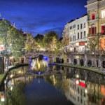 Bridge across canal in the historic center of Utrecht — Stock Photo #58046823