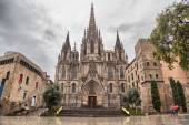 Barcelona Cathedral, located in Gothic Quarter — Stock Photo
