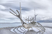 Sun Voyager monument, landmark of Reykjavik, Iceland — Stock Photo