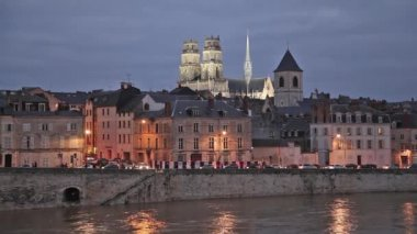 Evening in Orleans, France — Stockvideo