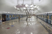 New metro station Troparevo, opened day before — Stock Photo