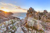 Cape Pointe Du Raz on sunset — Zdjęcie stockowe