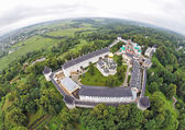 Aerial view on Savvino-Storozhevsky Monastery in Zvenigorod — ストック写真