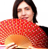 Red fan — Stock Photo