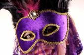 Леди с маской — Стоковое фото
