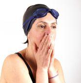 Senhora de natação — Fotografia Stock