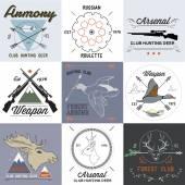 老式的狩猎标签集 — 图库矢量图片