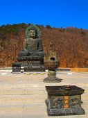 Big Meditate Buddha on Seorak mountain, South Korea — Stok fotoğraf