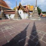 Pagoda shadow, Wat pho, Bangkok, Thailand — Stock Photo #56733963