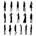 Set of high fashion women — Stock Vector #63552485