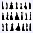 Set of wedding dresses — Stock Vector #65759391