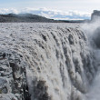 Beautiful vibrant panorama picture with a view on icelandic waterfall in iceland goddafoss gullfoss skogafoss skogarfoss dettifoss seljalandsfoss — Stock Photo #59500277
