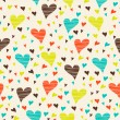 Seamless pattern with hearts — Stock Vector #52642927