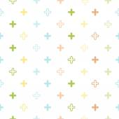 Baby pastel seamless patterns — Stock Vector