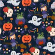 Bride Halloween vector seamless patterns. Endless texture can be used for wallpaper, pattern fills, web page,background — Stock Vector #55697849