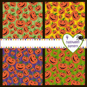 Bride Halloween vector seamless patterns. Endless texture can be used for wallpaper, pattern fills, web page,background — Stok Vektör