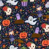 Bride Halloween vector seamless patterns. Endless texture can be used for wallpaper, pattern fills, web page,background — Vetorial Stock