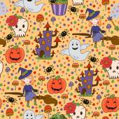 Bride Halloween vector seamless patterns. Endless texture can be used for wallpaper, pattern fills, web page,background — Vector de stock