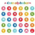 Bright alphabet set — Stock Vector #63735469