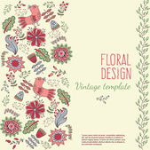 Invitation in floral style — Stock Vector