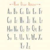 Stylish hand drawn alphabet — Stock Vector