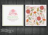 Floral card in vintage style — Stock vektor
