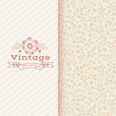 Floral banner in vintage style — Stock Vector