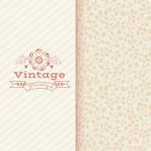 Floral banner in vintage style — 图库矢量图片