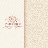 Floral banner in vintage style — Stockvektor
