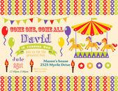 Circus party card — Stock Vector
