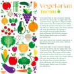 Vegetarian menus of restaurants — Stock Vector #73865311