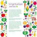 Vegetarian menus of restaurants — Stock Vector #73865323
