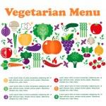 Vegetarian menus of restaurants — Stock Vector #73865425