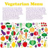 Vegetarian menus of restaurants — Stock Vector